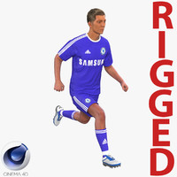 soccer player chelsea rigged 3d model