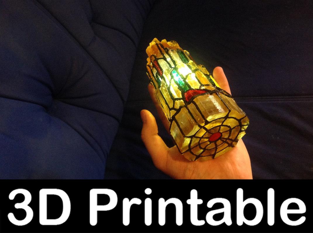 3d-printable zero module stargate 3d model