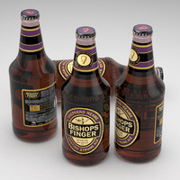 beer bottle bishops 3d model