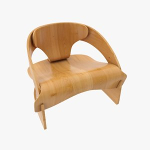 plywood chair 3ds