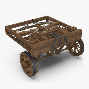 3d leonardo da vinci automobile model