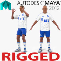 3d soccer player dynamo rigged model