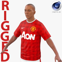 soccer player manchester united c4d