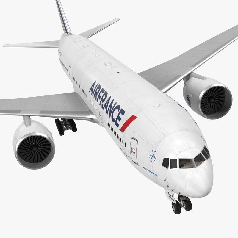 boeing 777 200er air 3d model