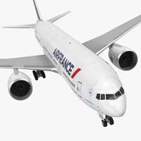 boeing 777 200er air france 3d model
