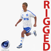 soccer player dynamo rigged c4d