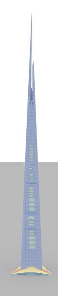 kingdom tower 3d model