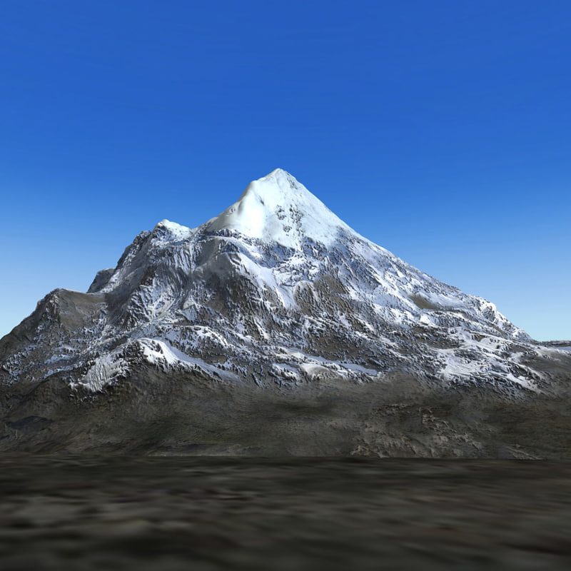 mountain mount 3d model