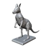 kangaroo sculpture print 3d model