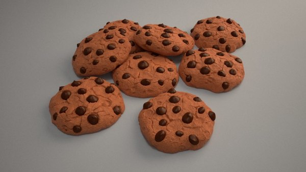 chip cookie 3d model