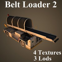 3d belt loader airport model