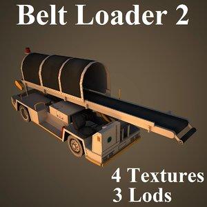 3d belt loader airport model