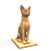 bast ancient egypt egyptian 3d model