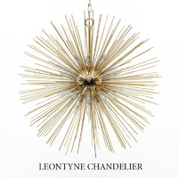 3d model of leontyne chandelier