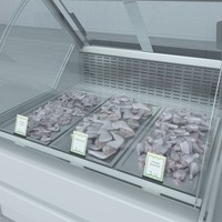 3d model custom refrigerated showcase chiken