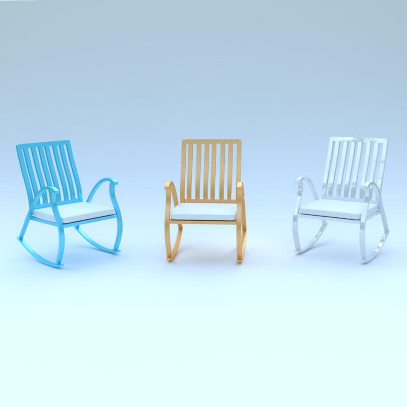 worcester rocking chair 3d obj