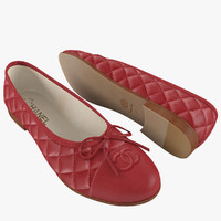Chanel Women's Ballet Flats Red