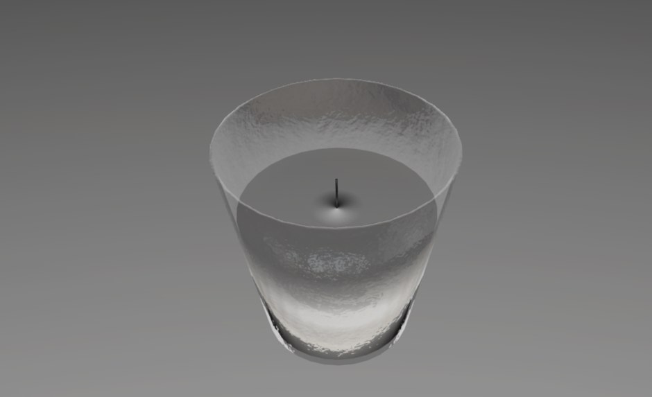 3d model candle