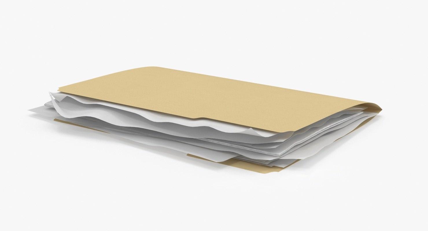 3d stuffed file folder model