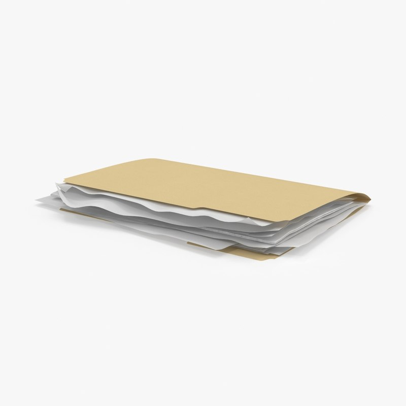 3d stuffed file folder model