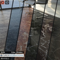 TUREX INTERNATIONAL Marble Tiles Set 06