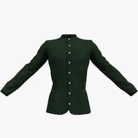 Men's Green Velvet Jacket