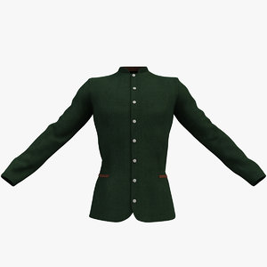 velvet jacket 3d max
