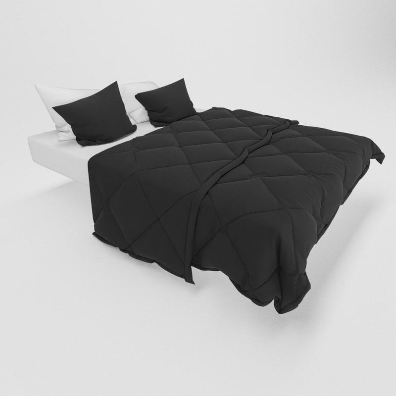 bed realistic 3d max