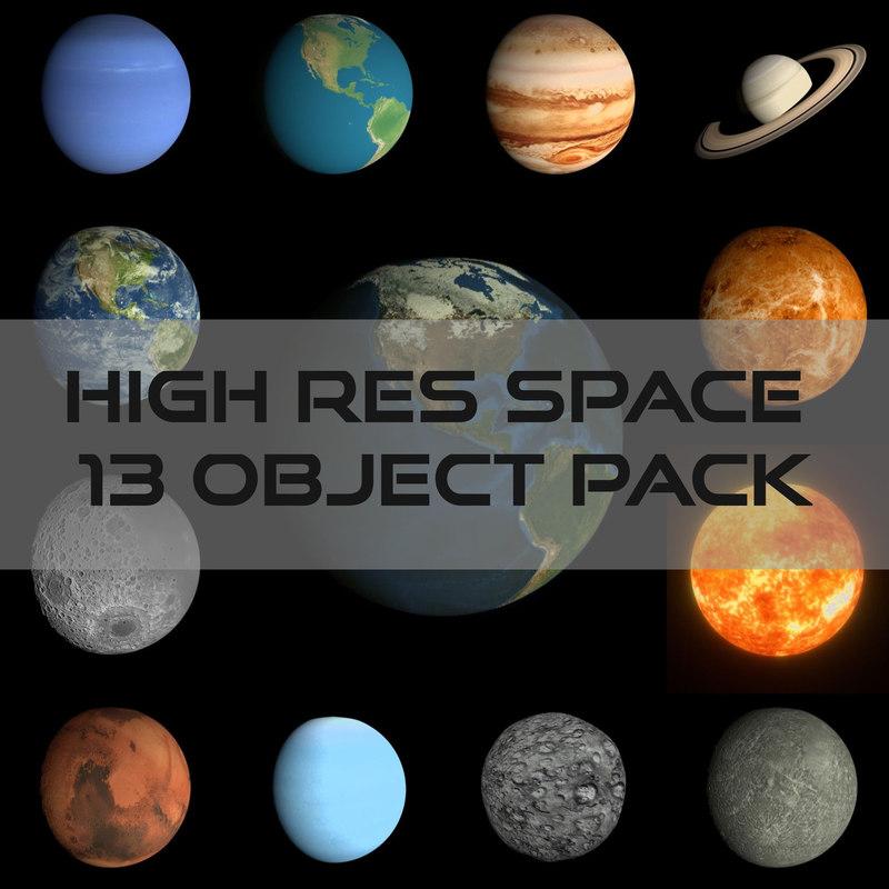 obj pack space earth hd