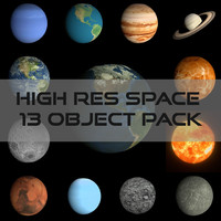 obj pack space earth hd
