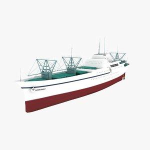 savannah ship nuclear cargo 3d ma