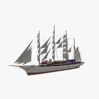 3d sea cloud cruise ship model