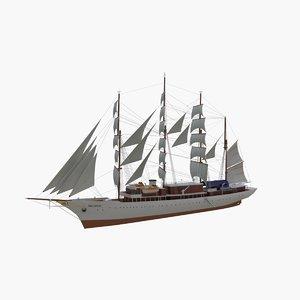 3d sea cloud cruise ship model