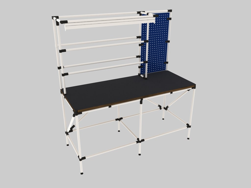 Admirable Workbench 3D Model Evergreenethics Interior Chair Design Evergreenethicsorg