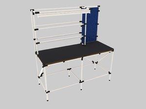 3d model work bench