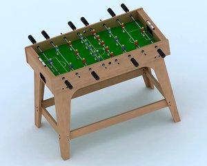 3d football table model