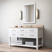 3d model hutton single extra-wide washstand