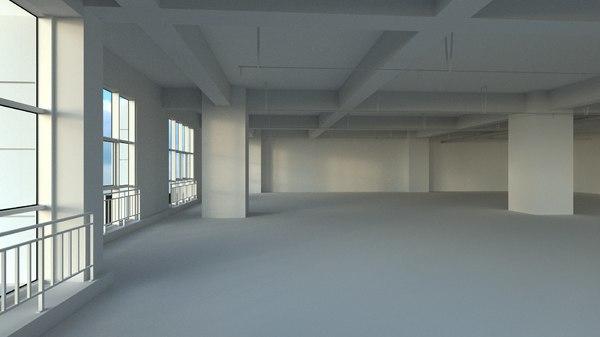 3d office space model