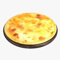 3d model pizza v-ray