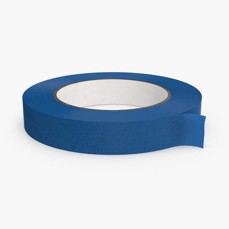 painter s tape roll 3d max