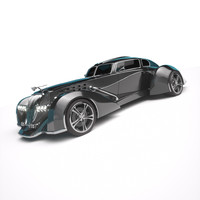 art deco roadster c4d