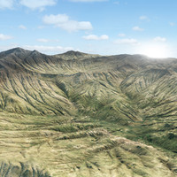 3d model mountain realistic