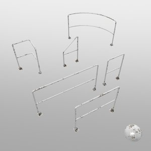 railing 3d max
