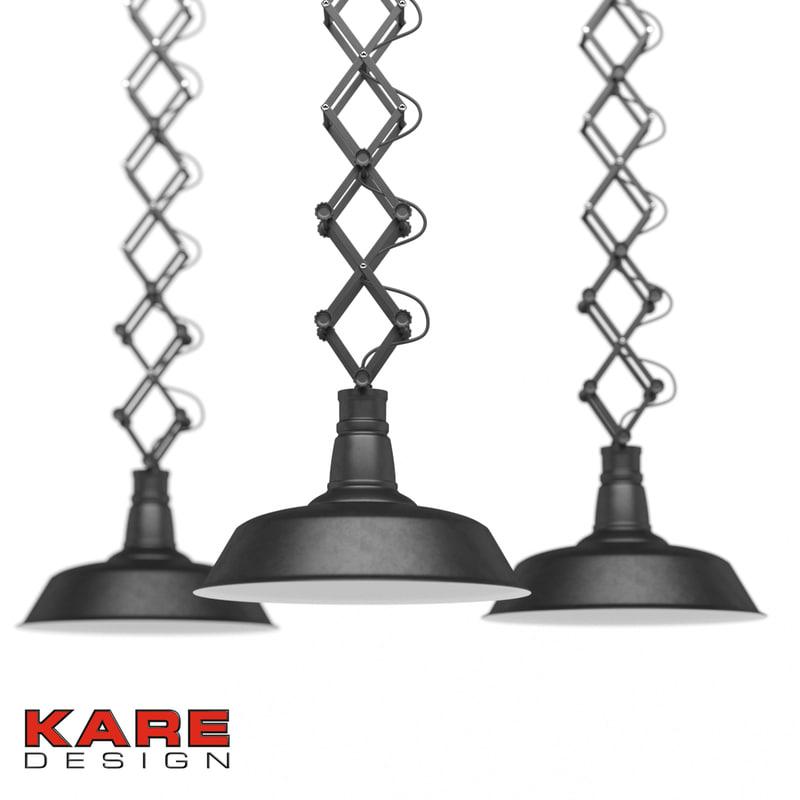 kare pendant lamp 3d max