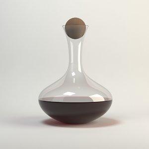 3d model carafe wine
