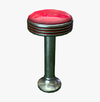3d model diner stool