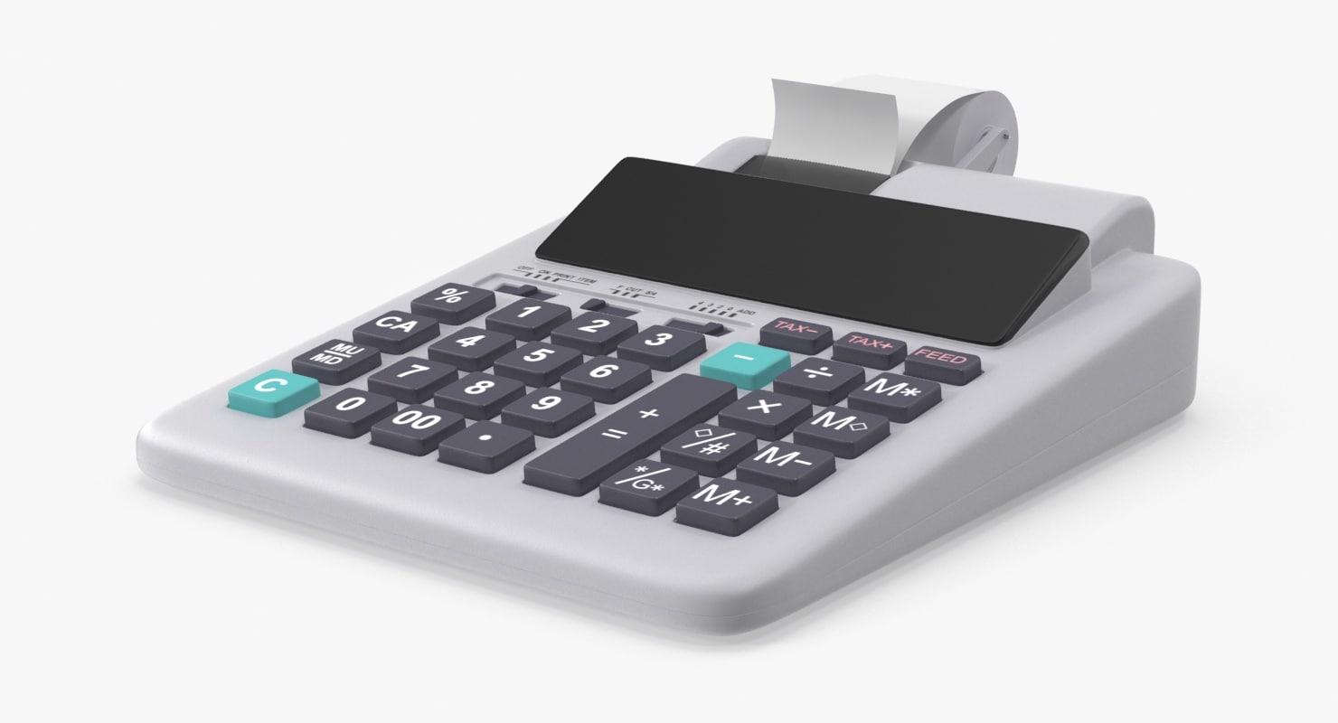 3d adding machine model
