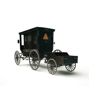amish buggy 3d model