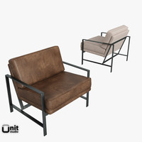 metal frame chair west 3d model