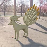 pokemon ninetales 3d model